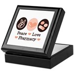 Peace Love Pharmacy Pharmacist Keepsake Box