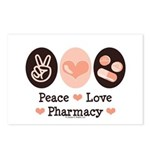 Peace Love Pharmacy Pharmacist Postcards (Package