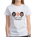 Peace Love Pharmacy Pharmacist Women's T-Shirt