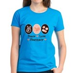 Peace Love Pharmacy Pharmacist Women's Dark T-Shir