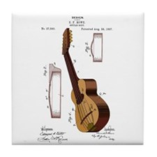 Guitar Patent Tile Coaster