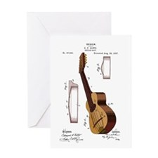 Guitar Patent Greeting Card
