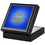Retro Christmas Tree Keepsake Box