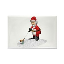 Golfing Santa Rectangle Magnet (100 pack)