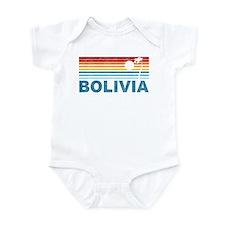Retro Bolivia Palm Tree Infant Bodysuit