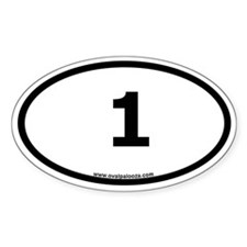 """1"" Oval Bumper Oval Decal"