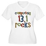 Completing 13.1 Rocks Marathon Women's Plus Size V