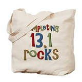 Completing 13.1 Rocks Marathon Tote Bag