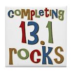 Completing 13.1 Rocks Marathon Tile Coaster