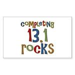 Completing 13.1 Rocks Marathon Sticker (Rectangula