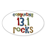 Completing 13.1 Rocks Marathon Oval Sticker