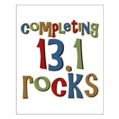 Completing 13.1 Rocks Marathon Small Poster
