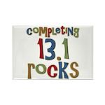 Completing 13.1 Rocks Marathon Rectangle Magnet