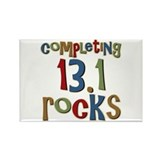 Completing 13.1 Rocks Marathon Rectangle Magnet