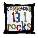 Completing 13.1 Rocks Marathon Throw Pillow