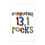 Completing 13.1 Rocks Marathon Mini Poster Print
