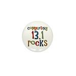 Completing 13.1 Rocks Marathon Mini Button (10 pac