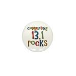 Completing 13.1 Rocks Marathon Mini Button