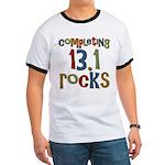 Completing 13.1 Rocks Marathon Ringer T