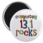 Completing 13.1 Rocks Marathon Magnet
