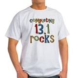 Completing 13.1 Rocks Marathon T-Shirt