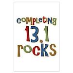 Completing 13.1 Rocks Marathon Large Poster