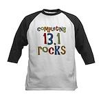 Completing 13.1 Rocks Marathon Kids Baseball Jerse