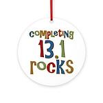 Completing 13.1 Rocks Marathon Ornament (Round)