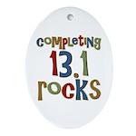 Completing 13.1 Rocks Marathon Oval Ornament