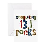 Completing 13.1 Rocks Marathon Greeting Cards (Pk
