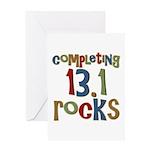 Completing 13.1 Rocks Marathon Greeting Card