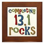 Completing 13.1 Rocks Marathon Framed Tile