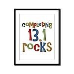 Completing 13.1 Rocks Marathon Framed Panel Print
