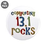"Completing 13.1 Rocks Marathon 3.5"" Button (10 pac"