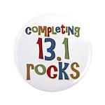 """Completing 13.1 Rocks Marathon 3.5"""" Button"""
