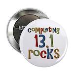 "Completing 13.1 Rocks Marathon 2.25"" Button (100 p"