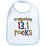 Completing 13.1 Rocks Marathon Bib