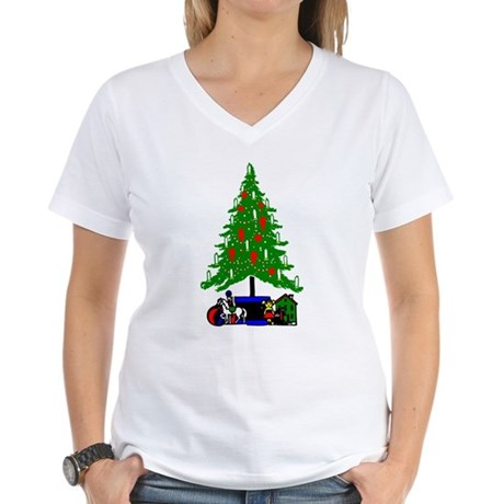 Christmas Tree Women's V-Neck T-Shirt