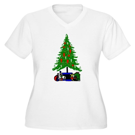 Christmas Tree Women's Plus Size V-Neck T-Shirt