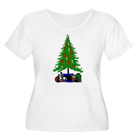 Christmas Tree Women's Plus Size Scoop Neck T-Shir