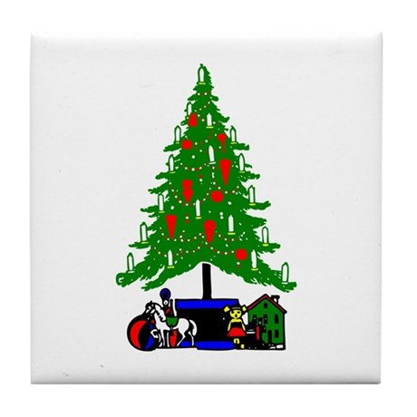 Christmas Tree Tile Coaster