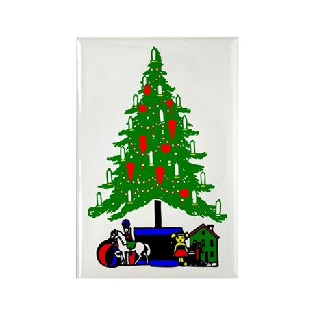 Christmas Tree Rectangle Magnet (10 pack)