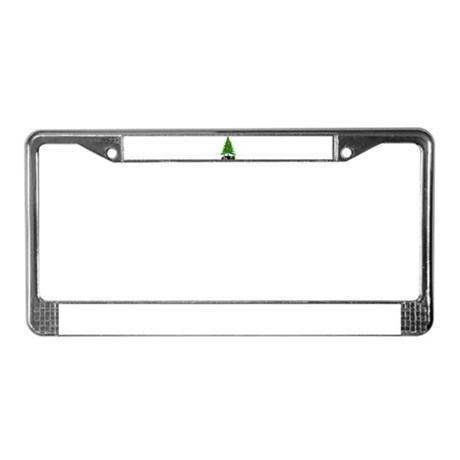 Christmas Tree License Plate Frame