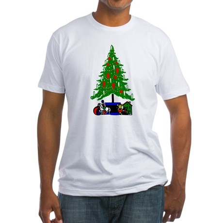 Christmas Tree Fitted T-Shirt