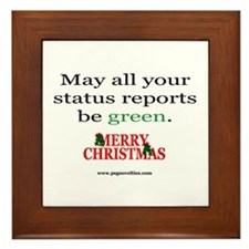 Cute Be merry Framed Tile