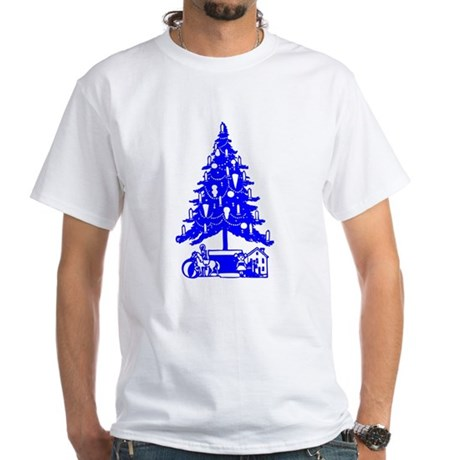 Christmas Tree White T-Shirt