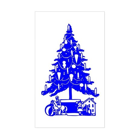 Christmas Tree Rectangle Sticker