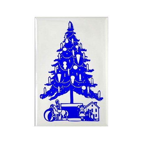 Christmas Tree Rectangle Magnet (100 pack)