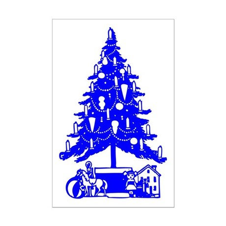 Christmas Tree Mini Poster Print