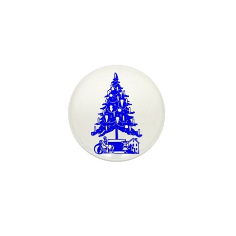 Christmas Tree Mini Button (10 pack)